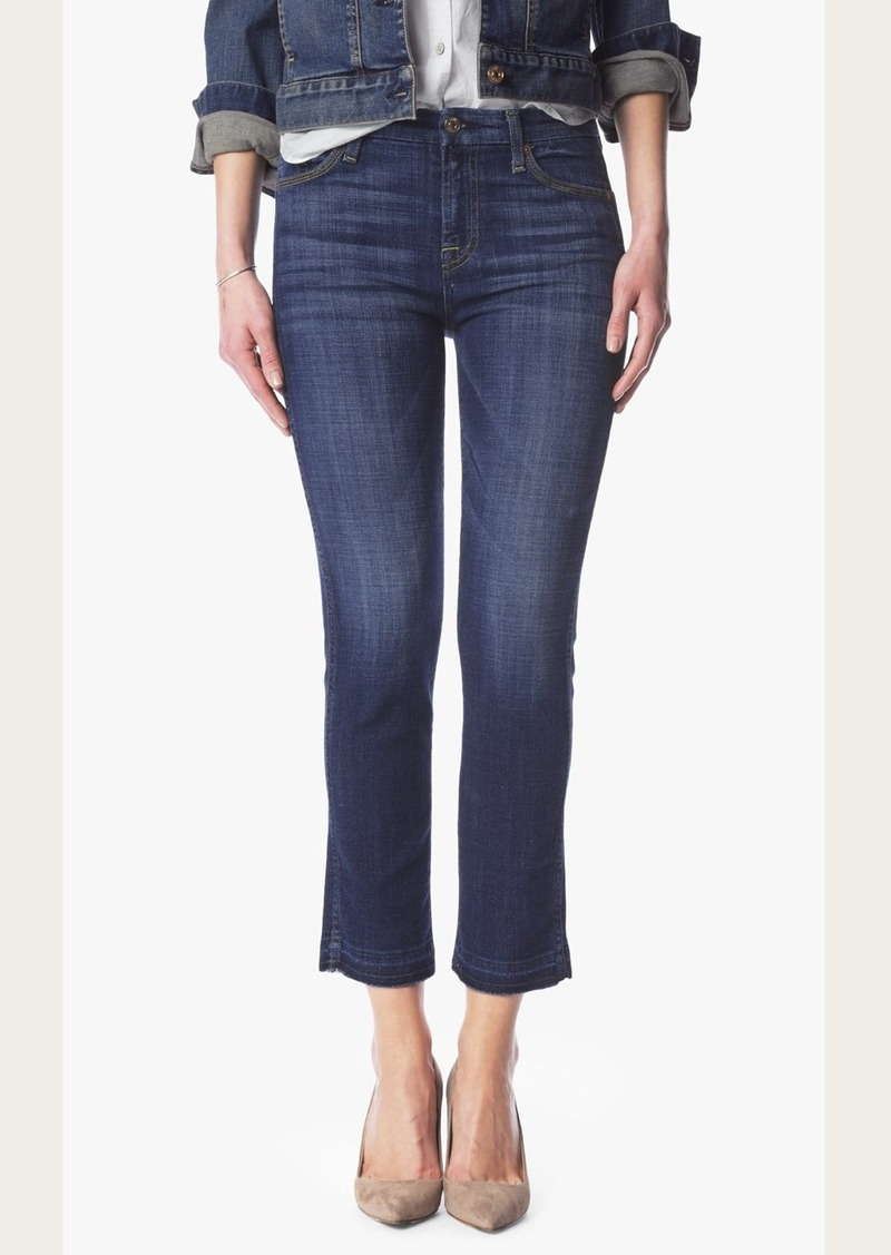 7 For All Mankind Ankle Straight With Released Hem in Brilliant Broken Twill