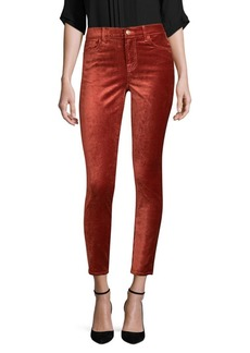 7 For All Mankind Velvet Ankle Skinny Pants