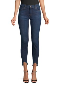 7 For All Mankind Ankle Wave-Hem Skinny Jeans