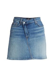 7 For All Mankind Asymmetrical Denim Mini Skirt
