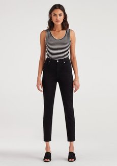 7 For All Mankind Aubrey Super High Waist in Pitch Black