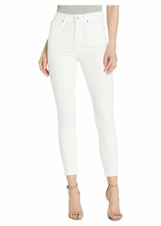 7 For All Mankind Aubrey Super High Waist in White Runway