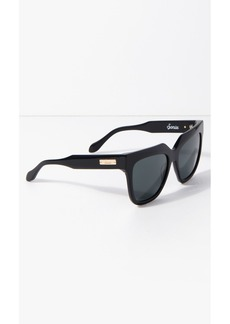 7 For All Mankind Avalon Sunglasses in Black