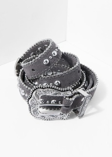 7 For All Mankind B-Low The Belt Baby Heaven Belt in Light Grey and Silver