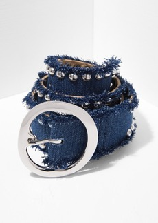 7 For All Mankind B-Low The Belt Nina in Denim and Silver