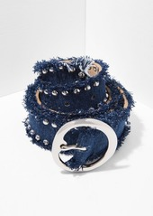 7 For All Mankind B-Low The Belt Nina Mini in Denim and Silver