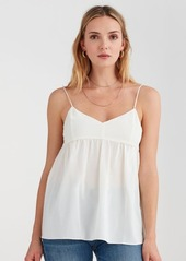 7 For All Mankind Babydoll Camisole in Soft White
