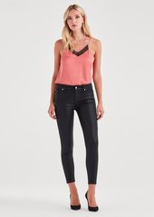 7 For All Mankind B(air) Ankle Skinny in Black Coated