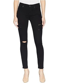 7 For All Mankind B(Air) Ankle Skinny with Destroy in Black 3