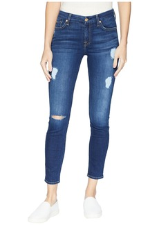 7 For All Mankind B(Air) Ankle Skinny with Destroy in Duchess 2