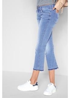 7 For All Mankind B(air) Denim Cropped Boot with Released Hem in Sunfaded
