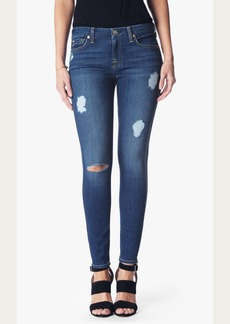 7 For All Mankind b(air) Denim Ankle Skinny with Destroy in Reign