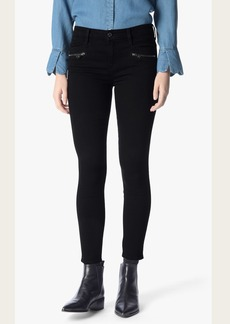 7 For All Mankind b(air) Denim Ankle Skinny with Front Zips in Black