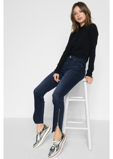 B(air) Denim Ankle Skinny with Tulip Zipper Hem in Park Avenue