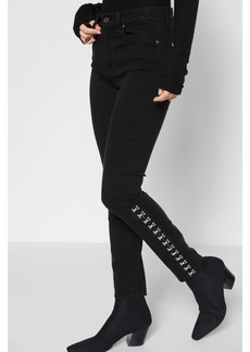 B(air) Denim High Waist Ankle Skinny with Hook and Eye Detail