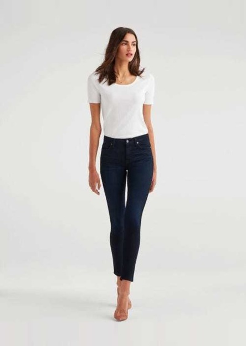 7 For All Mankind b(air) Denim High Waist Skinny in Blue Black River Thames