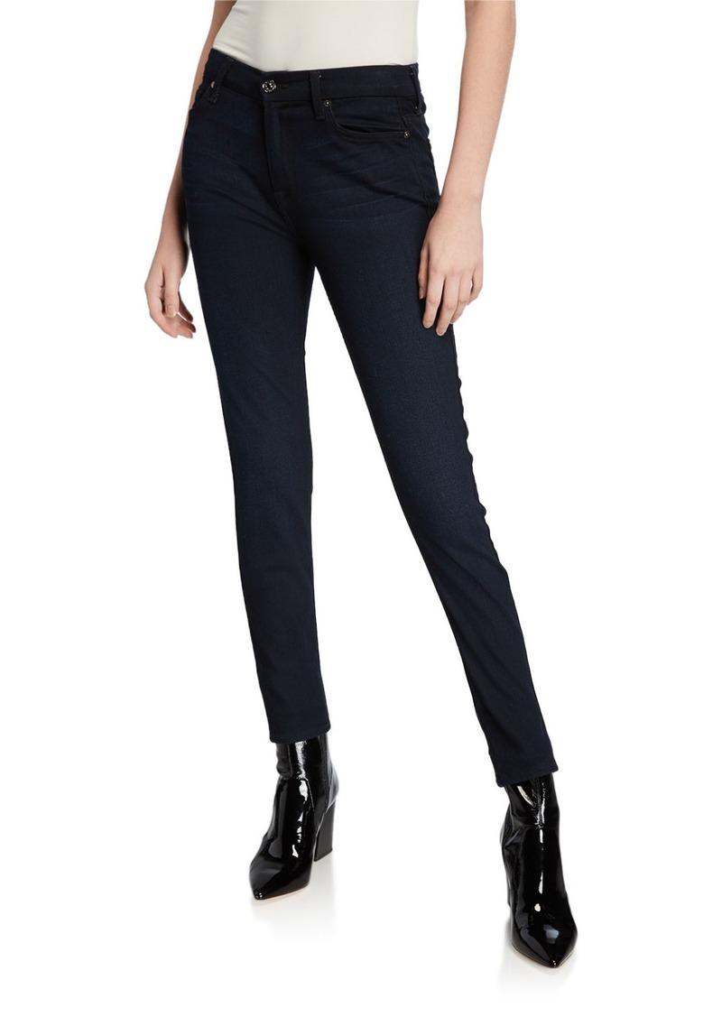 7 For All Mankind B(Air) Denim High-Waist Skinny Jeans