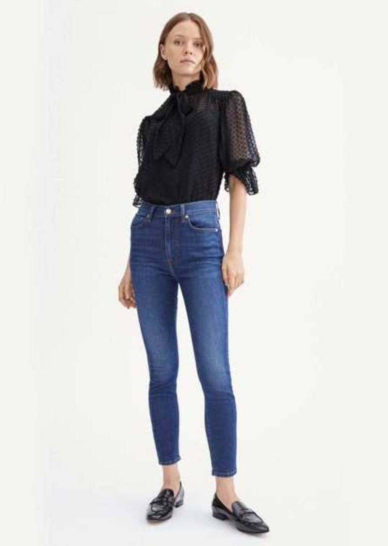 7 For All Mankind B(air) Silk High Waist Ankle Skinny in Catalina