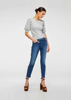 7 For All Mankind B(air) High Waist Ankle Skinny in Peace Blue