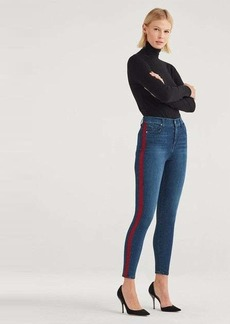 7 For All Mankind B(air) High Waist Ankle Skinny with Red Snake Side Stripe in Authentic Mystic