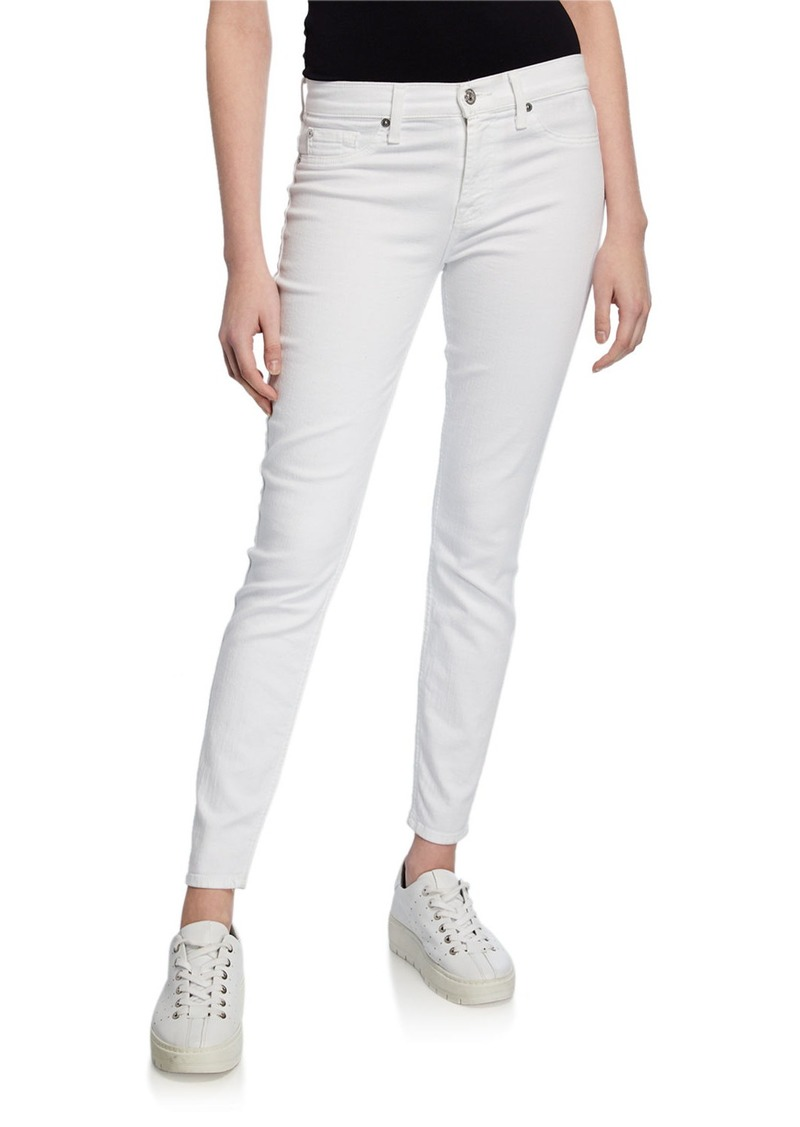 7 For All Mankind B(Air) Mid-Rise Ankle Skinny Jeans with Faux Front Pockets