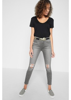b(air) The Highwaist Ankle Skinny with Knee Holes in Chrysler Grey