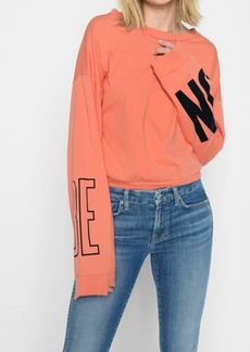 """7 For All Mankind """"Be On"""" Tomboy Long Sleeve Tee in Poppy"""