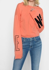 "7 For All Mankind ""Be On"" Tomboy Long Sleeve Tee in Poppy"