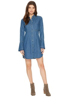 7 For All Mankind Bell Sleeve Denim Shirtdress in Pico Blue