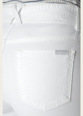 7 For All Mankind Belted Palazzo Pant in White
