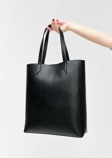 7 For All Mankind Black Leather Tote