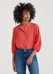 7 For All Mankind Blouson Pleated Top in Poppy