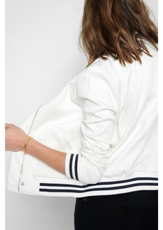 7 For All Mankind Bonded Bomber Jacket in White