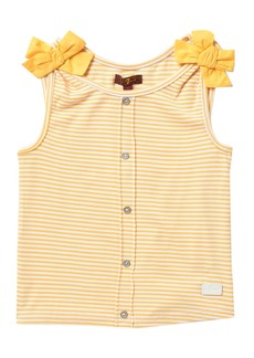 7 For All Mankind Bow Trim Tank Top (Big Girls)