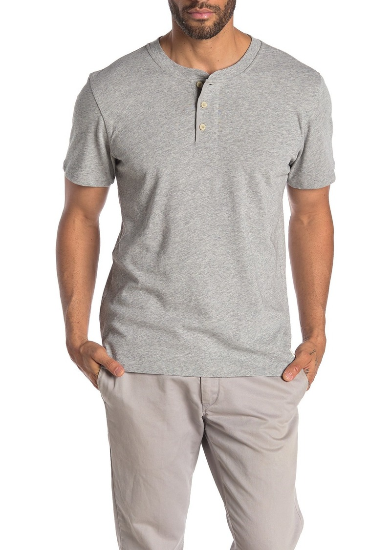 7 For All Mankind Boxer Heathered Short Sleeve Henley