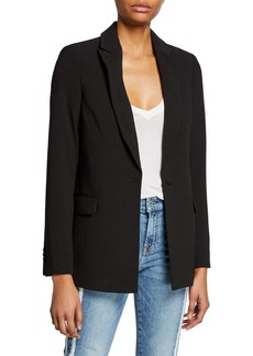 7 For All Mankind Boyfriend Crepe Blazer
