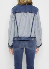 7 For All Mankind Boyfriend Jacket with Destroy in Inside Out