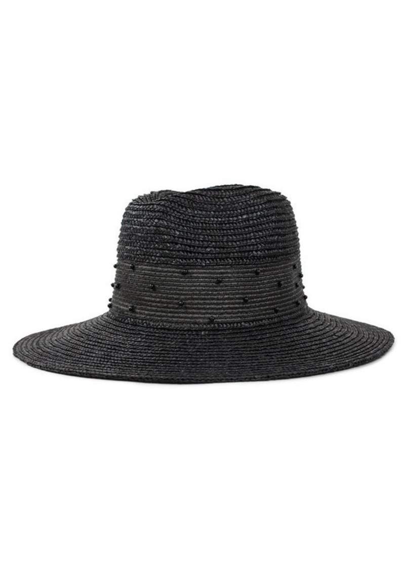 7 For All Mankind Brixton Macy Fedora in Black