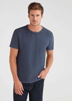7 For All Mankind Brooklyn Signature Slub Crew Tee in Navy