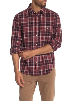 7 For All Mankind Brushed Plaid Long Sleeve Shirt