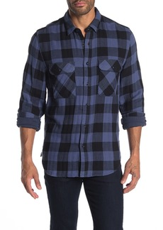 7 For All Mankind Buffalo Check Print Trim Fit Shirt