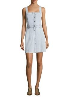 7 For All Mankind Button-Front Denim Dress