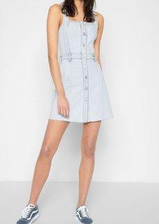 7 For All Mankind Button Front Dress in Desert Sun Bleached
