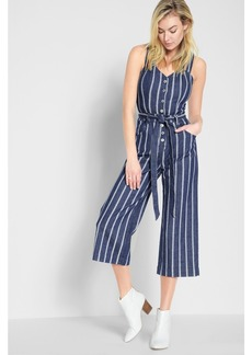 Button Front Playsuit in Seaside Stripe