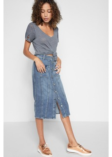 Button Front Skirt in Rockaway Beach 2
