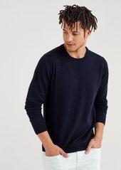 7 For All Mankind Cashmere Crewneck Sweatshirt in Navy