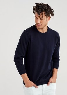 7 For All Mankind Cashmere Crewneck Sweatshirt in Navy