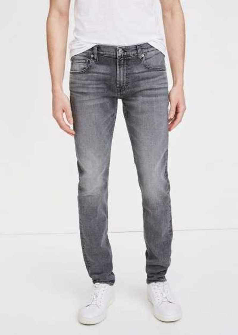 7 For All Mankind Cashmere Denim Stacked Skinny in Camelot Grey