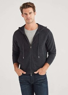 7 For All Mankind Cashmere Hoodie in Charcoal