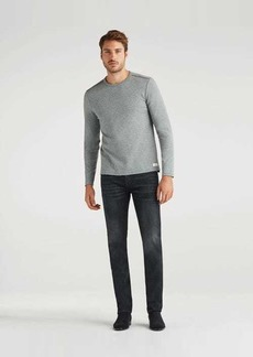 7 For All Mankind Cashmere Slimmy with Clean Pocket in Washed Black